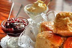 English jam and clotted cream