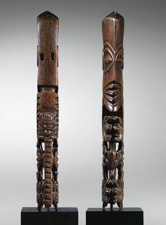 "Tête d'un ""Dieu-Bâton"", <em>atua rakau</em>,Rarotonga, Îles Cook   Lot   Sotheby's"