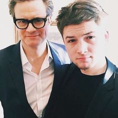 Taron Egerton and Colin firth kingsman
