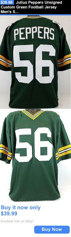 Sports Memorabilia: Julius Peppers Unsigned Custom Green Football Jersey Mens Size 2Xl BUY IT NOW ONLY: $39.99