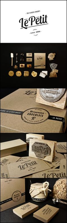 De la pâtisserie avec un nom de camembert... n'empêche que c'est joli ! Le Petit Bakery  Branding, Packaging
