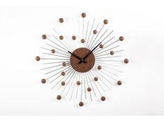 Hans Andersen Home Mid century Star Wall Clock (Telechron Mid Century Star Clock), Brown (Metal)