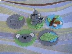 Aussie Baby Shower Cupcake Toppers by Lynlee's Petite Cakes, via Flickr #Australia