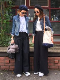 Style Hijab Outfit Casual Ideas For 2019 Japan Fashion, Look Fashion, Hijab Fashion, Trendy Fashion, Korean Fashion, Autumn Fashion, Fashion Outfits, Womens Fashion, Trendy Style