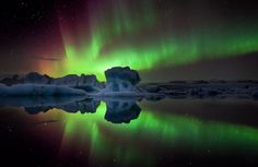 Red Star (by Iceland Aurora (Photo Tours)) Top Travel Destinations, Best Places To Travel, Places To See, Photo Tours, Iceland Glacier, Aurora Iceland, Landscape Photography, Nature Photography, Viajes