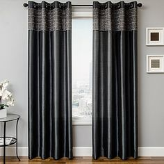 Eva 84-Inch Grommet Top Window Curtain Panel