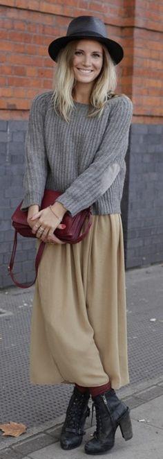 #genuinepeople #genuine-people #maxi #skirt #streetstyle