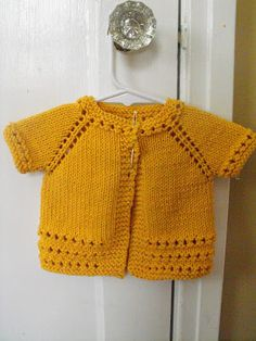 Yellow brick road baby sweater