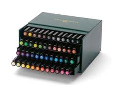 Faber Castell Pitt Artist Brush Tip Pens 48 Colour Box Set 167148