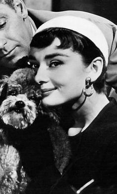 Audrey Hepburn, that's William Holden in the back ground