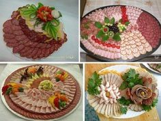 Decoration of dishes Party Trays, Party Platters, Food Platters, Food Dishes, Meat Trays, Meat Platter, Brunch, Tortilla Pinwheels, New Year Table
