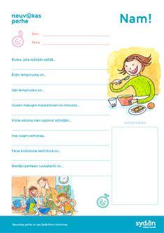 Iloinen tehtäväsivu lapsen terveen ruokasuhteen tukemiseen. Tulosta & katsoohjeet ja vinkit nettisivuiltamme! Avainsanat: 3-5v, 5-7v, 7-9v, pienryhmätoiminta, yksilötehtävä, tehtävä, askartelu, päiväkoti, varhaiskasvatus, esikoulu, alakoulu, perhe, neuvola, hyvinvointi Map, Maps, Peta