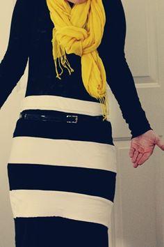DIY: the t-shirt skirt