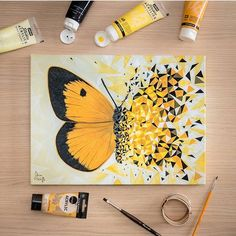 70 Easy Canvas Painting Ideas For Beginners - Fashion Hombre Small Canvas Art, Mini Canvas Art, Cool Art Drawings, Art Drawings Sketches, Marker Drawings, Arte Sketchbook, Butterfly Painting, Butterfly Artwork, Acrylic Art