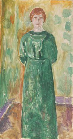 Amedeo Modigliani - Käte Perls, 1913   Oil on Canvas 145.5 x 77.5 cm  Munch Museum, Oslo