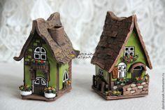 """Купить Домик-подсвечник """"Green"""" - домик, домики, прованс, прованский стиль, ароматный подарок"""
