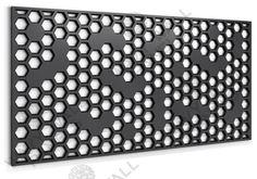 30-905 Honeycomb R2 Hexagonal Fretwork Screen Jaali Design, Laser Cut Metal, Metal Screen, Hexagon Pattern, Metal Panels, Background Patterns, Honeycomb, Screens, Cnc