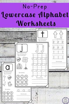Learning all the letters can be tough for young children. These No-Prep Lowercase Alphabet Worksheets are a great way to help them to learn to recognise and write all the lowercase letters of the alphabet.