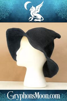 Dark Grey Witch Hat - What's on your wish list for Halloween? Maybe a new witch's hat? These knitted witch hats are the perfect combination of cute, comfy, and cool. They're the perfect accessory whether riding your broomstick, handing out candy, or dancing in the moonlight. Soft and form-fitting, they still hold their shape well, from the wide brim to the tip-top peak. Available in 4 colors from our website. #Witch #Hat #WitchHat #WitchHats #WitchesHat #WitchyThings #Halloween #Samhain… Samhain Halloween, Dancing In The Moonlight, Witch Hats, Dark Grey, Comfy, Shape, Website, Cool Stuff, Colors