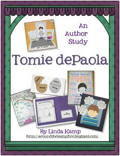 Tomie depaola author study: 20 literacy activities including reading strategies, comprehension skills, writing activities, anchor charts,  graphic organizers, and 6 different craftivities!  Also includes a unit folder craft and 3-4 week pacing guide. $