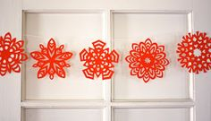How About Orange: How to make 5-pointed paper snowflakes
