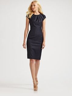 navy sheath dress