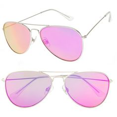 bcaef7a69c SO® 53mm Flat Lens Aviator Sunglasses ( 6) ❤ liked on Polyvore featuring  accessories