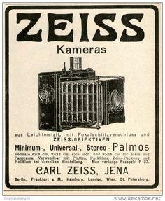 Original-Werbung/Inserat/ Anzeige 1906 - KAMERAS /  CARL ZEISS JENA  - ca. 90 X 110 mm