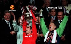 FA Cup Winners 1996 We Are Manchester, Manchester United Football, Eric Cantona, Sir Alex Ferguson, Live Matches, Match Highlights, Professional Football, Old Trafford, Fa Cup