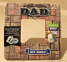 Worlds Greatest Dad Father's Day  Picture frame by RebelsPlace on Etsy