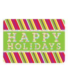 Loving this 'Happy Holidays' Premium Comfort Mat on #zulily! #zulilyfinds
