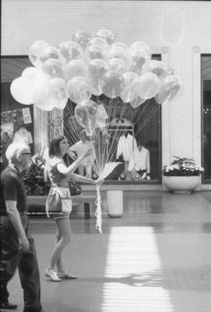 From 1965 until 1976 the balloon girls worked throughout the shopping center, selling colorful balloons to small children. #tbt #NorthPark50 #northparkcenter