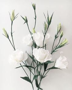 """80 Likes, 5 Comments - @amidstthedust on Instagram: """"☕️Good morning...#lisianthus #paperlisianthus #paperflowers #crepepaper #whiteonwhite"""""""