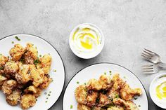 Fried Cauliflower with Whipped Feta | The Candid Appetite