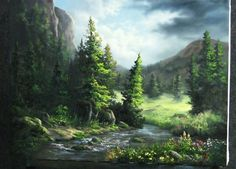 Escape into the wilderness with this wildflower mountain painting. For more paintings like this, go to: www.paintwithkevin.com