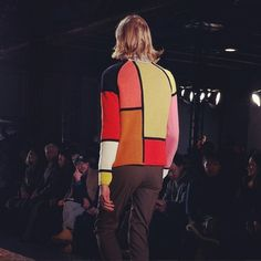 PARIS | Royal baby alpaca in geometric print intarsia knitwear. À la Mondrian …    Paul Smith      Saison AH 2013_2014 | MODE MASCULINE