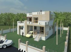 Creative Exterior Design, Exterior 3D Views, House Elevation Designs,  Minimalist Style Design,