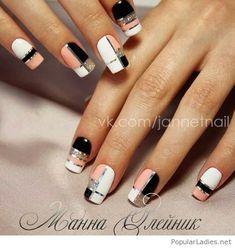 NagelDesign Elegant ( I want plaid nails – pint… ) – NagelDesign Elegant ♥ Elegant Nail Designs, Elegant Nails, Classy Nails, Fancy Nails, Stylish Nails, Trendy Nails, Diy Nails, Manicure, Cute Acrylic Nails