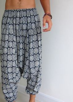 sewing pattern harem pants; it is NOT for a finished item. You can download the file from Etsy and print it $5.00usd: