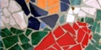 step by step How to Make a Mosaic Using Broken Dishes   eHow.com