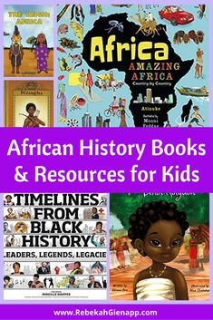 Black history didn't start with enslavement. Use these books, videos, and other resources to explore pre-colonial African history with kids. African Literature, African History, African Culture, Third Grade Books, Service Projects For Kids, Geography For Kids, Preschool Books, Fiction And Nonfiction, Book Lists