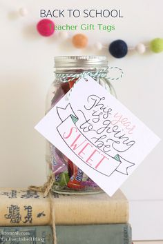 Get your kids and teachers excited about how sweet the new school year will be with these back to school teacher gift tags.