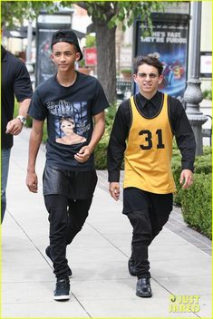 Jaden Smith spends the afternoon with Moises Arias on June 11, 2013  May the fashion gods save them.