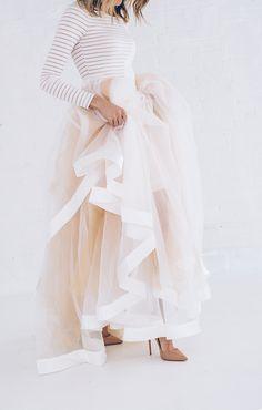 separates   tulle skirt   via: hello fashion