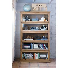 Atticus Base, Crown and Five Stacking Cabinets in Bookcases, Towers | Crate and Barrel
