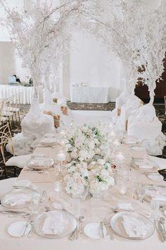 A Lavish, Winter Wonderland Themed Wedding in Vancouver Winter Wedding Decorations, Wedding Themes, Wedding Ideas, Winter Weddings, Ceremony Decorations, Wedding Details, Wedding Dresses, Winter Wonderland Wedding Theme, Winter Themed Wedding