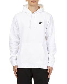 Shop Nike Sweatshirt In White from stores. Nike Sweatshirt: non-detachable hood with drawstring ribbed cuffs and hem embroidered logo on front panel front kangaroo pocket regular fit Composition: Cotton, Polyester White Nike Sweatshirt, Nike Sweatshirts Hoodie, Cute Sweatshirts, Sweatshirt Outfit, White Hoodie, Cheap Nike Hoodies, Nike Tech, Nike Outfits, White Nikes