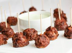Spicy lamb and dates combined in a gluten free mini meatball. Finished with a dairy free cilantro sauce, this bite has it all: tangy, sweet and cool!