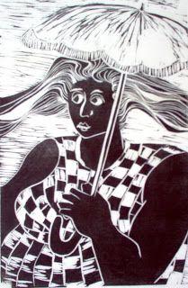 Maria Lucia Pacheco: Mulher com sombrinha