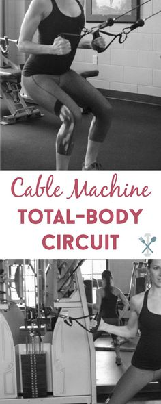 This total-body workout uses the cable machine to target multiple muscle groups for an incredible workout at the gym! A resistance strength training circuit